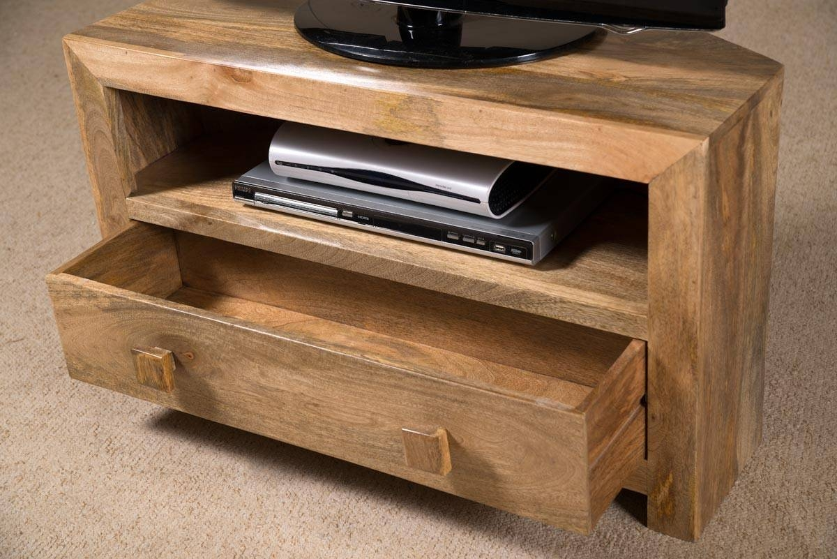 Dakota Light Mango Small Corner Tv Stand | Casa Bella Furniture Uk For Wooden Corner Tv Units (View 13 of 15)