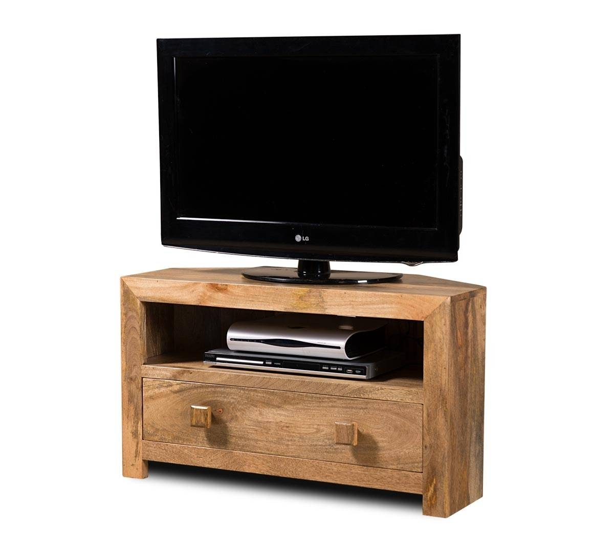 Dakota Light Mango Small Corner Tv Stand | Casa Bella Furniture Uk Intended For Wood Corner Tv Cabinets (View 5 of 15)