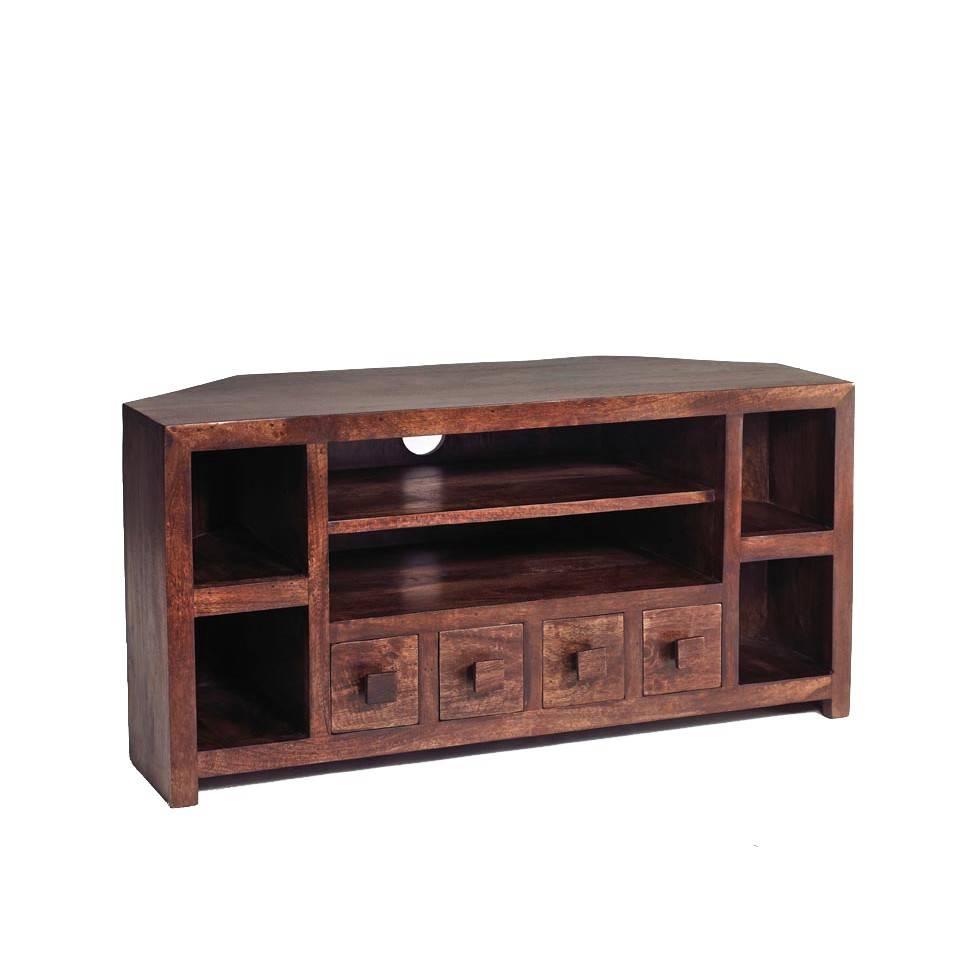 Dakota Mango Corner Tv Unit – Verty Indian Furniture Regarding Mango Tv Unit (View 5 of 15)