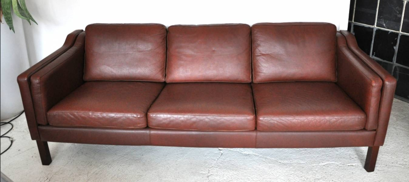 Danish Brown Leather Sofa - Firefly House with regard to Danish Leather Sofas (Image 3 of 15)