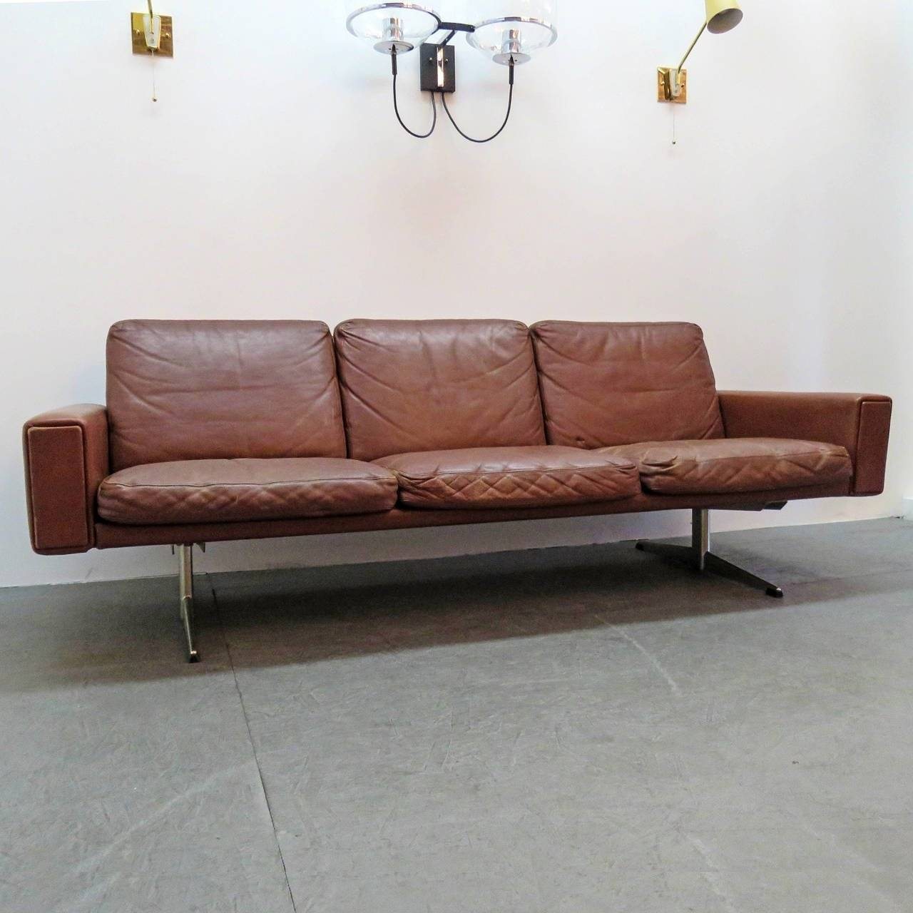 Danish Leather Sofa, 1960 For Sale At 1Stdibs regarding Danish Leather Sofas (Image 7 of 15)