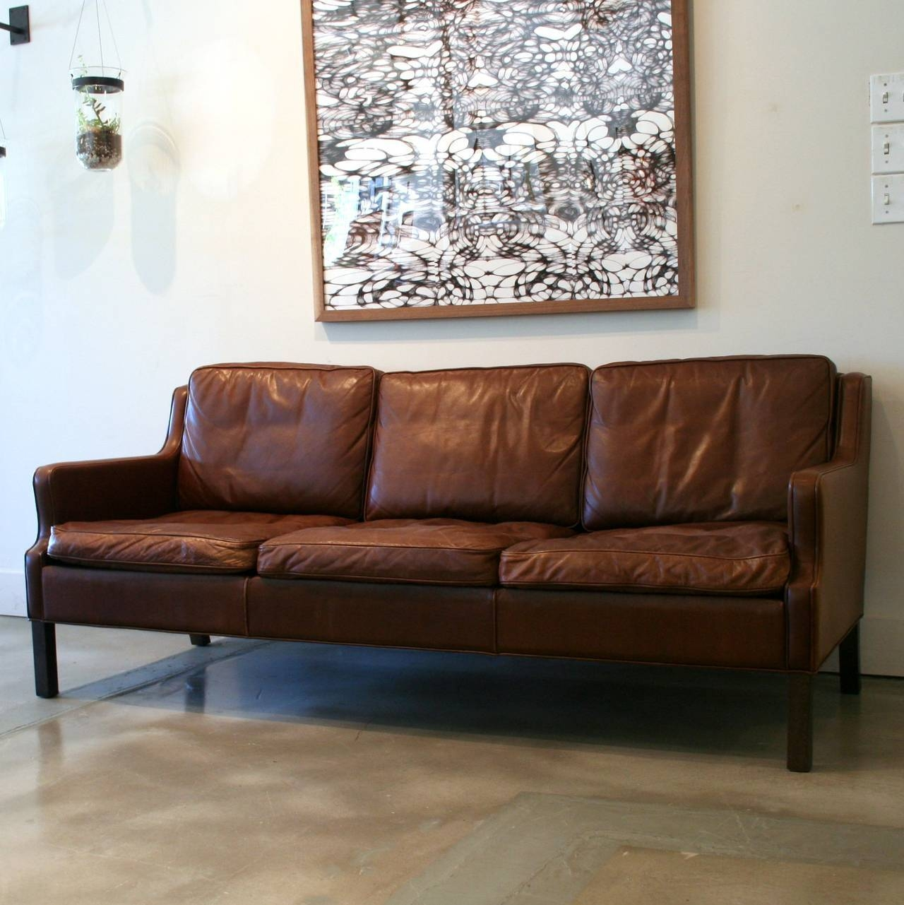 Danish Leather Sofa - Bürostuhl with Danish Leather Sofas (Image 4 of 15)