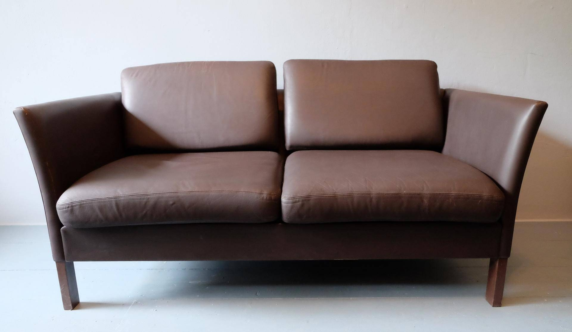 Danish Leather Sofa Loveseat, 1970S For Sale At Pamono for Danish Leather Sofas (Image 6 of 15)