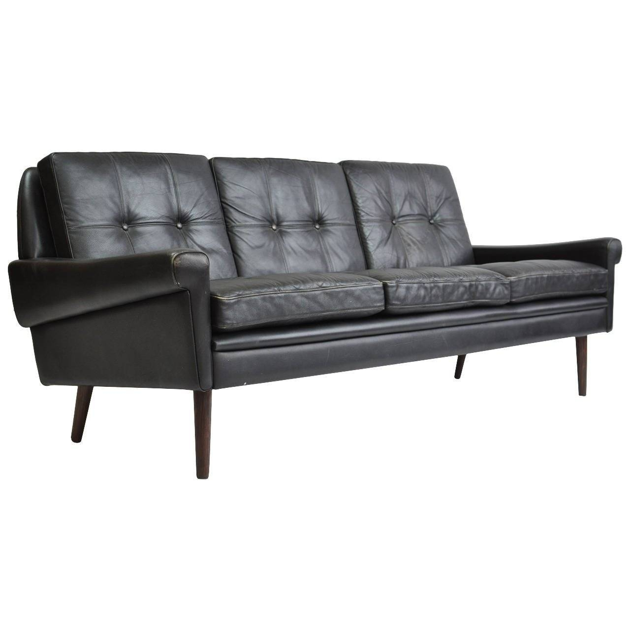 Danish Leather Sofasvend Skipper At 1Stdibs with Danish Leather Sofas (Image 9 of 15)