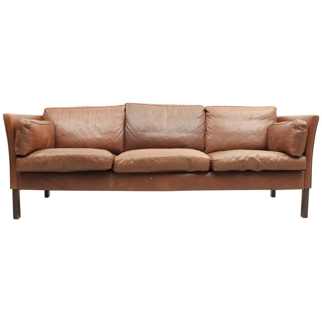 Danish Mid Century Modern Leather Sofa At 1Stdibs with Danish Leather Sofas (Image 10 of 15)