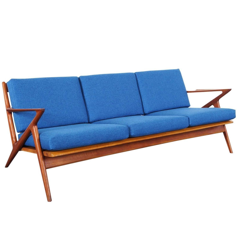 """Danish Modern Teak """"z"""" Sofapoul Jensen At 1Stdibs inside Danish Modern Sofas (Image 5 of 15)"""