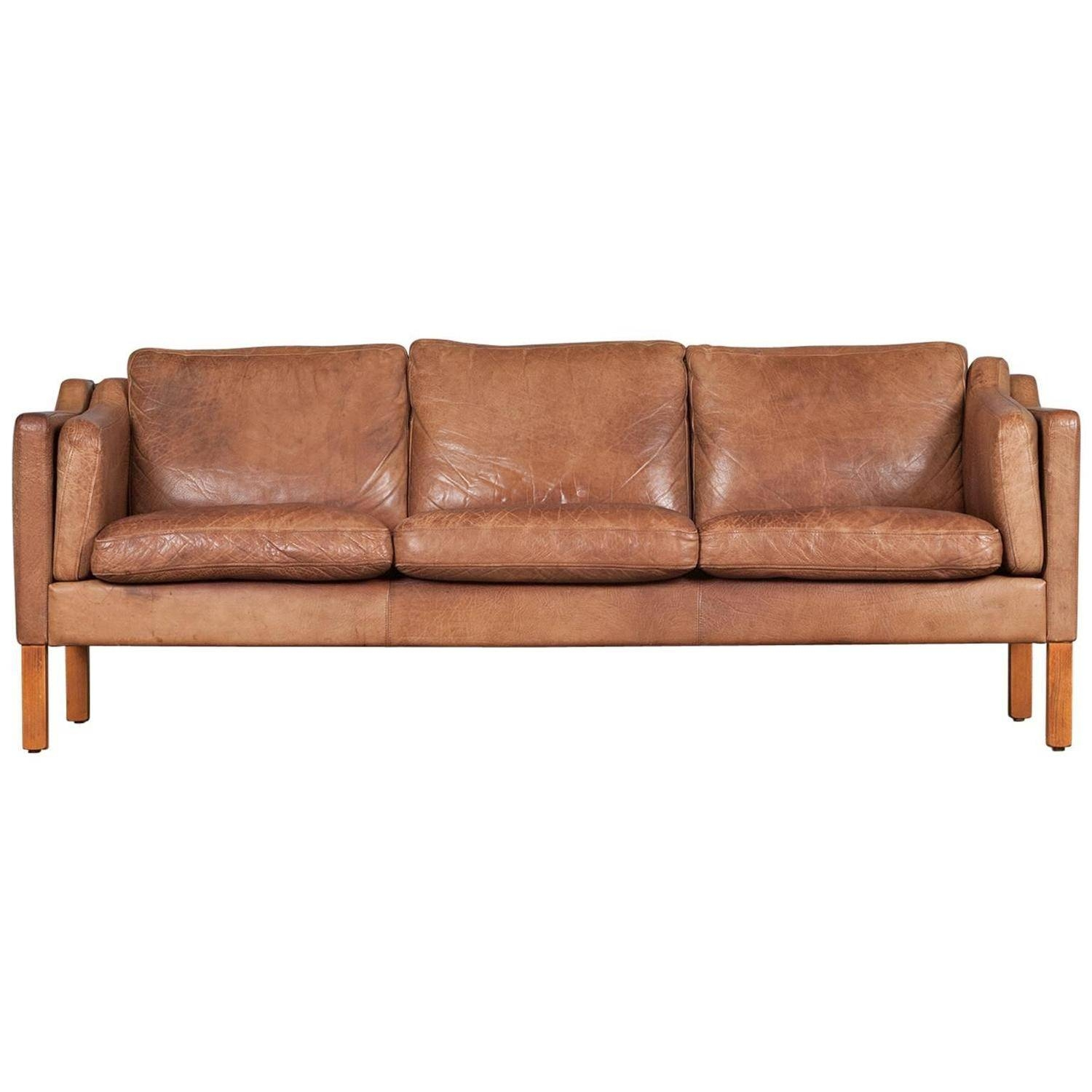 Danish Three-Seater Sofa In Camel Coloured Leather, 1960S At 1Stdibs inside Camel Colored Leather Sofas (Image 7 of 15)