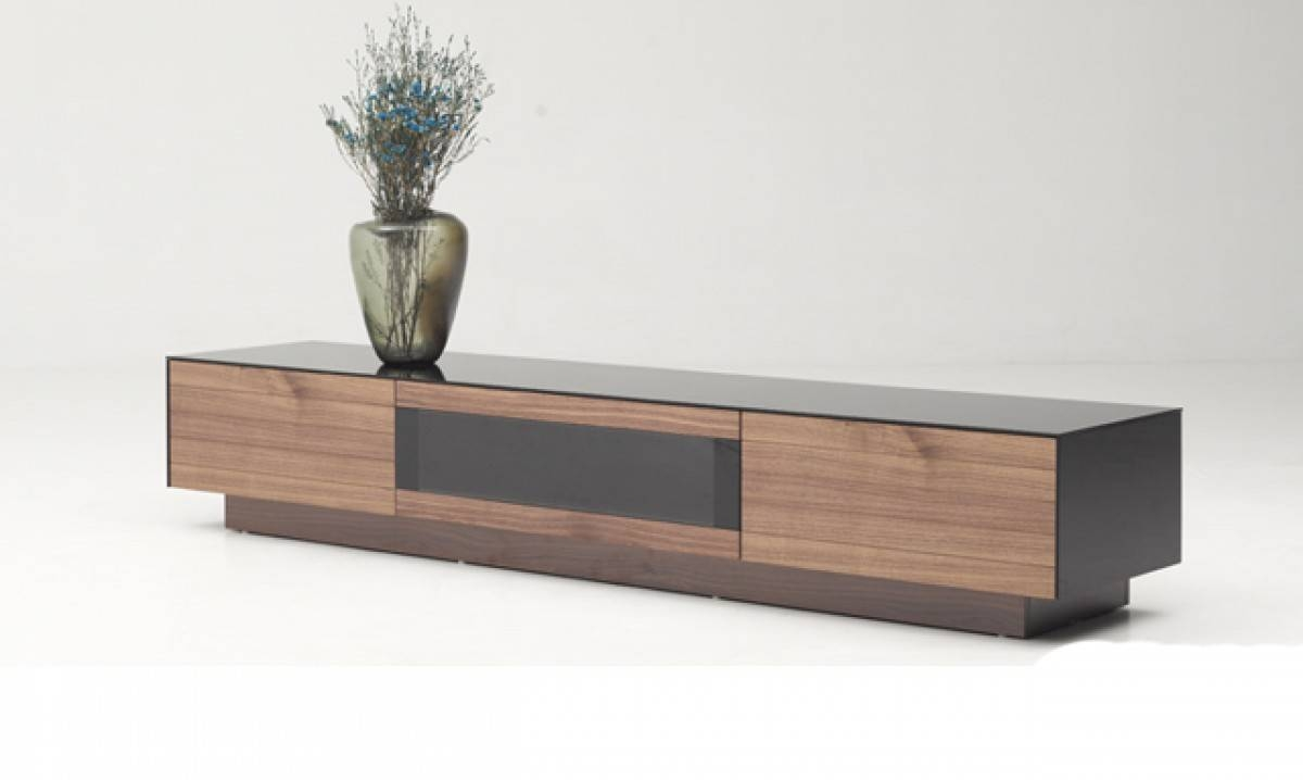 Darius Modern Walnut Tv Stand with regard to Modern Walnut Tv Stands (Image 1 of 15)