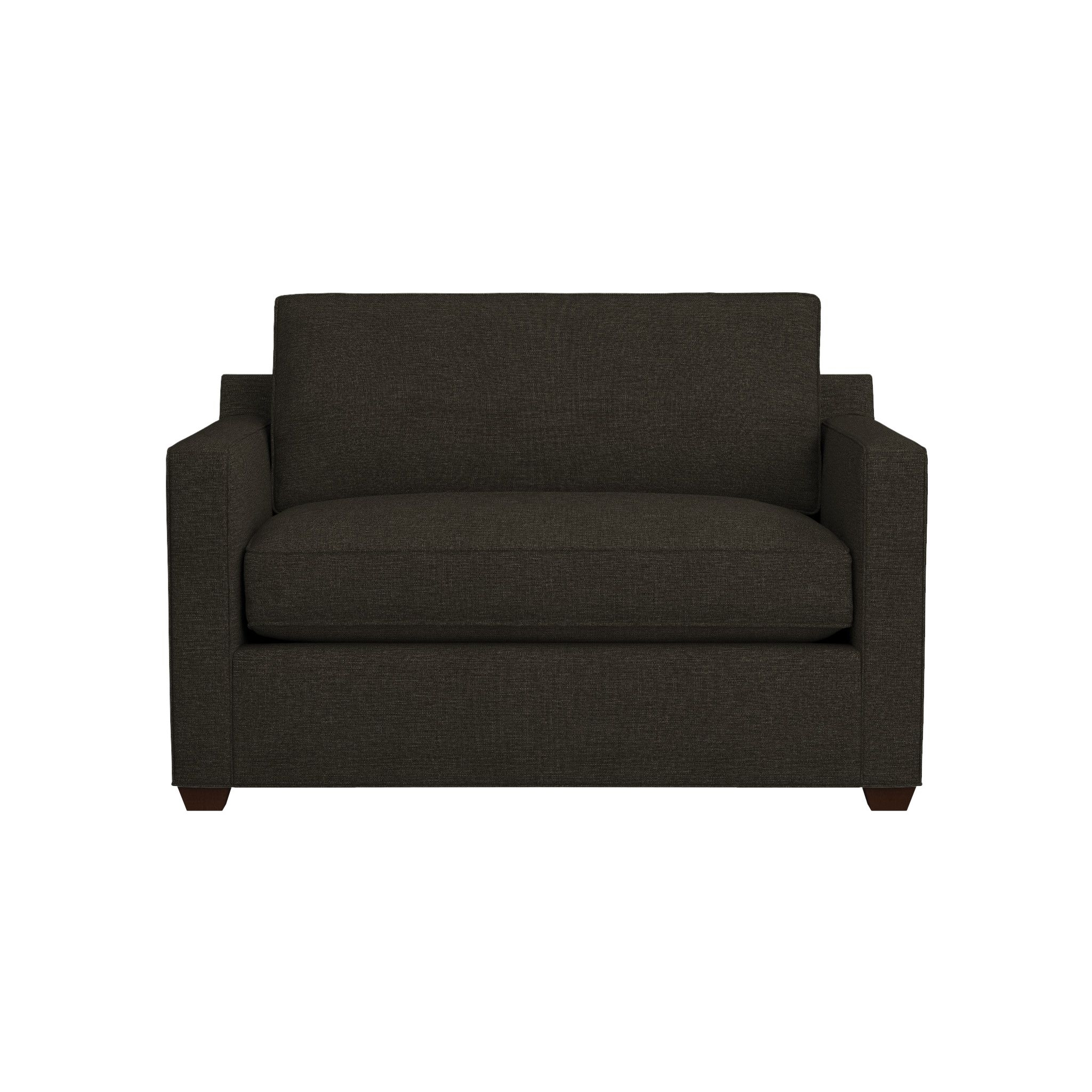 Davis Twin Sleeper Sofa With Air Mattress | Crate And Barrel Throughout Sleep Number Sofa Beds (View 6 of 15)