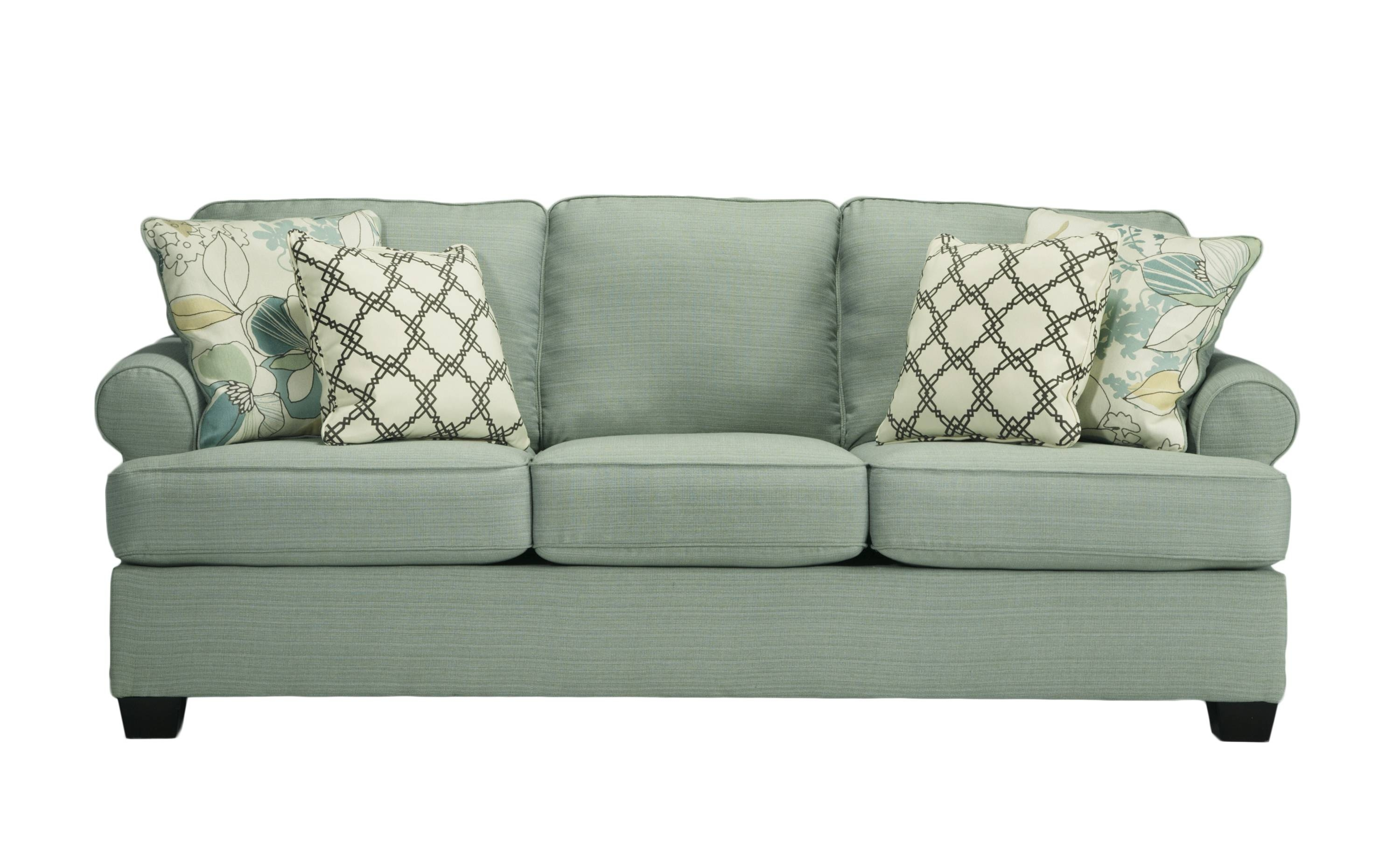 Daystar Contemporary Seafoam Fabric Sofa | Living Rooms | The pertaining to Seafoam Green Couches (Image 4 of 15)