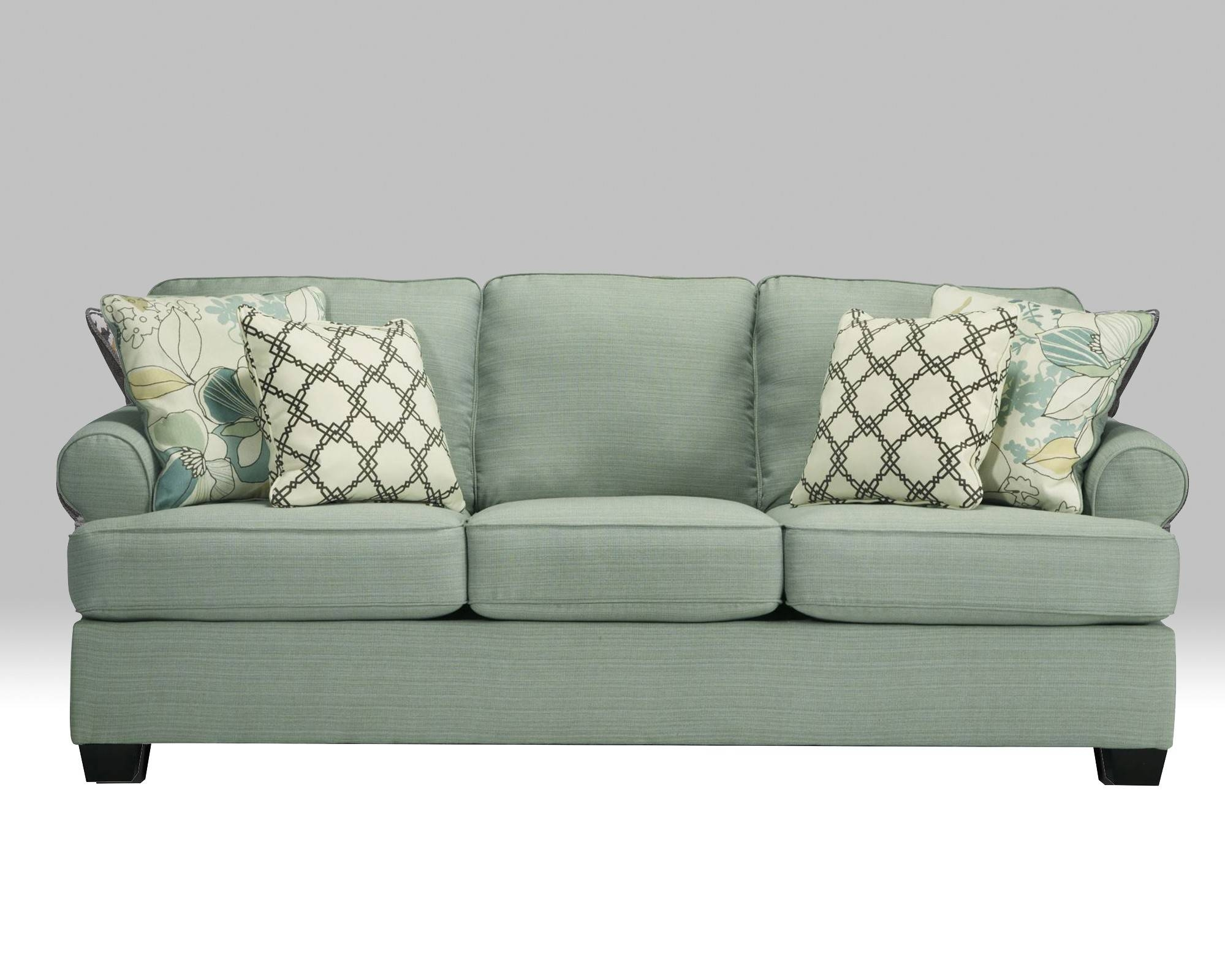 Daystar Seafoam Sofa For $390.00 - Furnitureusa with Seafoam Sofas (Image 7 of 15)