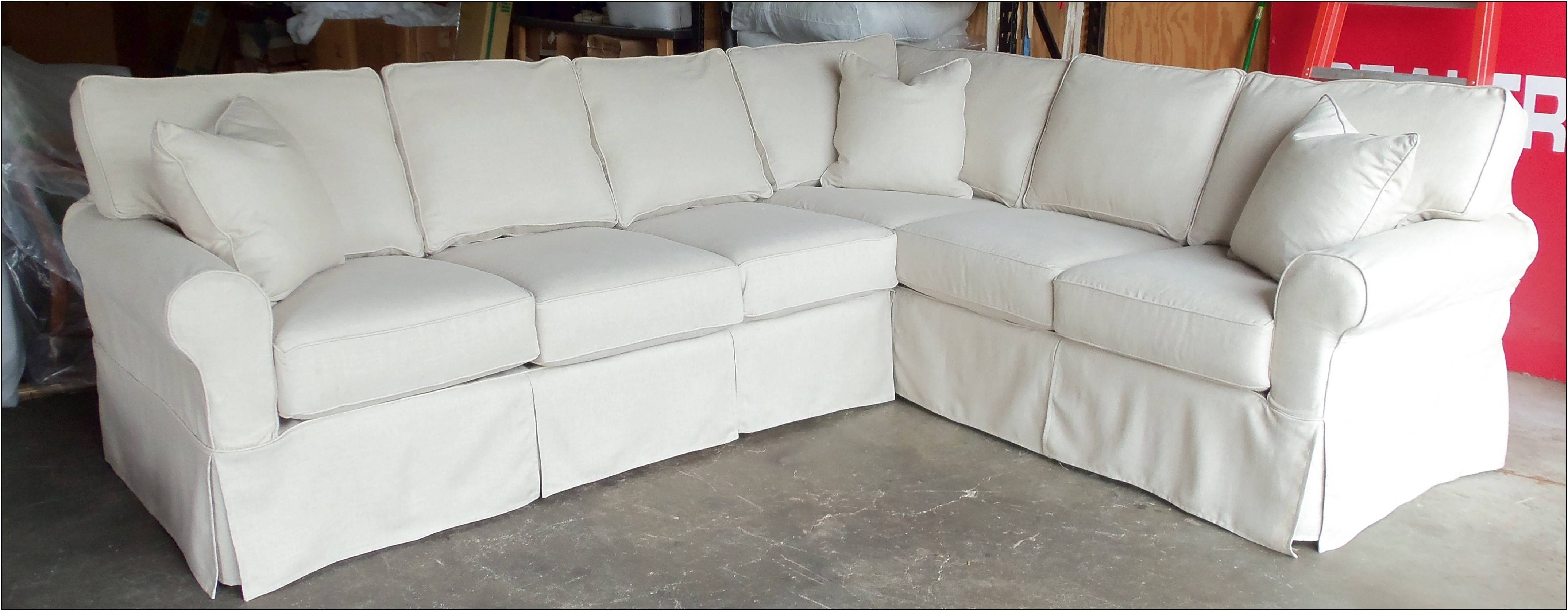 Decor: Pottery Barn Slipcovers | Pottery Barn Glider Slipcover regarding Slipcovers for Sleeper Sofas (Image 4 of 15)