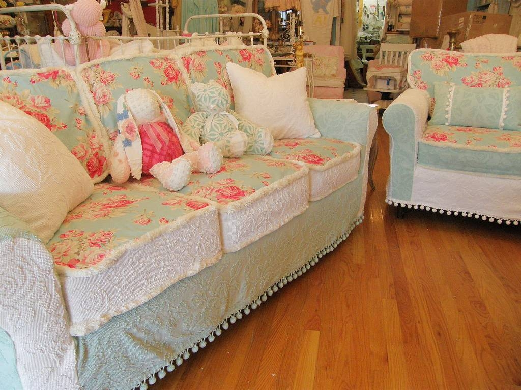 Decor: Shabby Chic Slipcovers | Slipcovers For Upholstered Chairs within Shabby Chic Sofas Covers (Image 5 of 15)