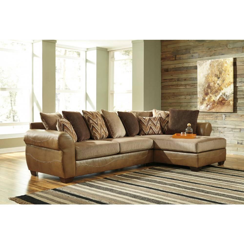 Decorating: Declain Ashley Furniture Sectional Sofa In Sand For intended for Ashley Corduroy Sectional Sofas (Image 9 of 15)