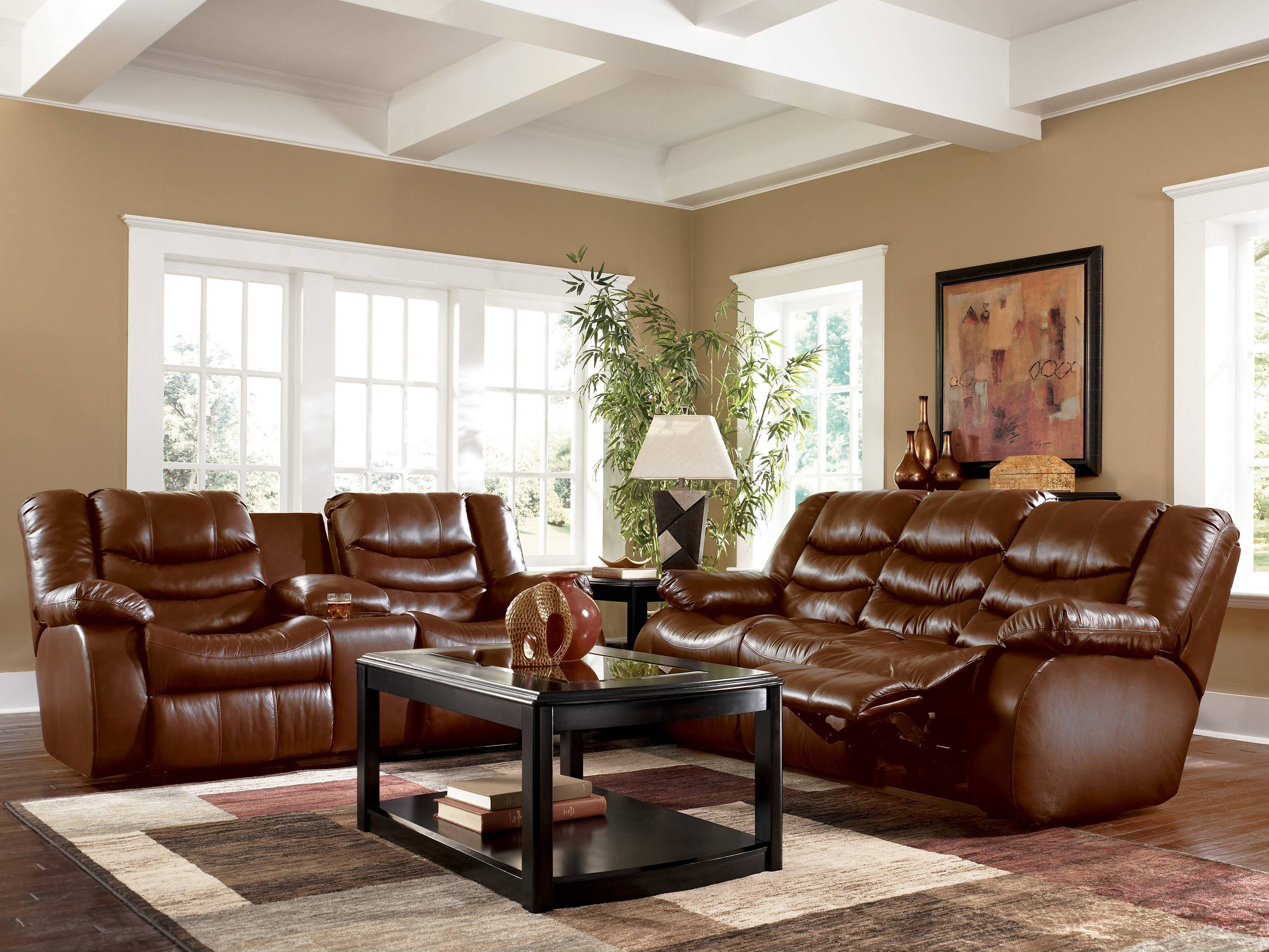 Decorating Ideas For Living Room With Brown Leather Couch throughout Living Room With Brown Sofas (Image 7 of 15)