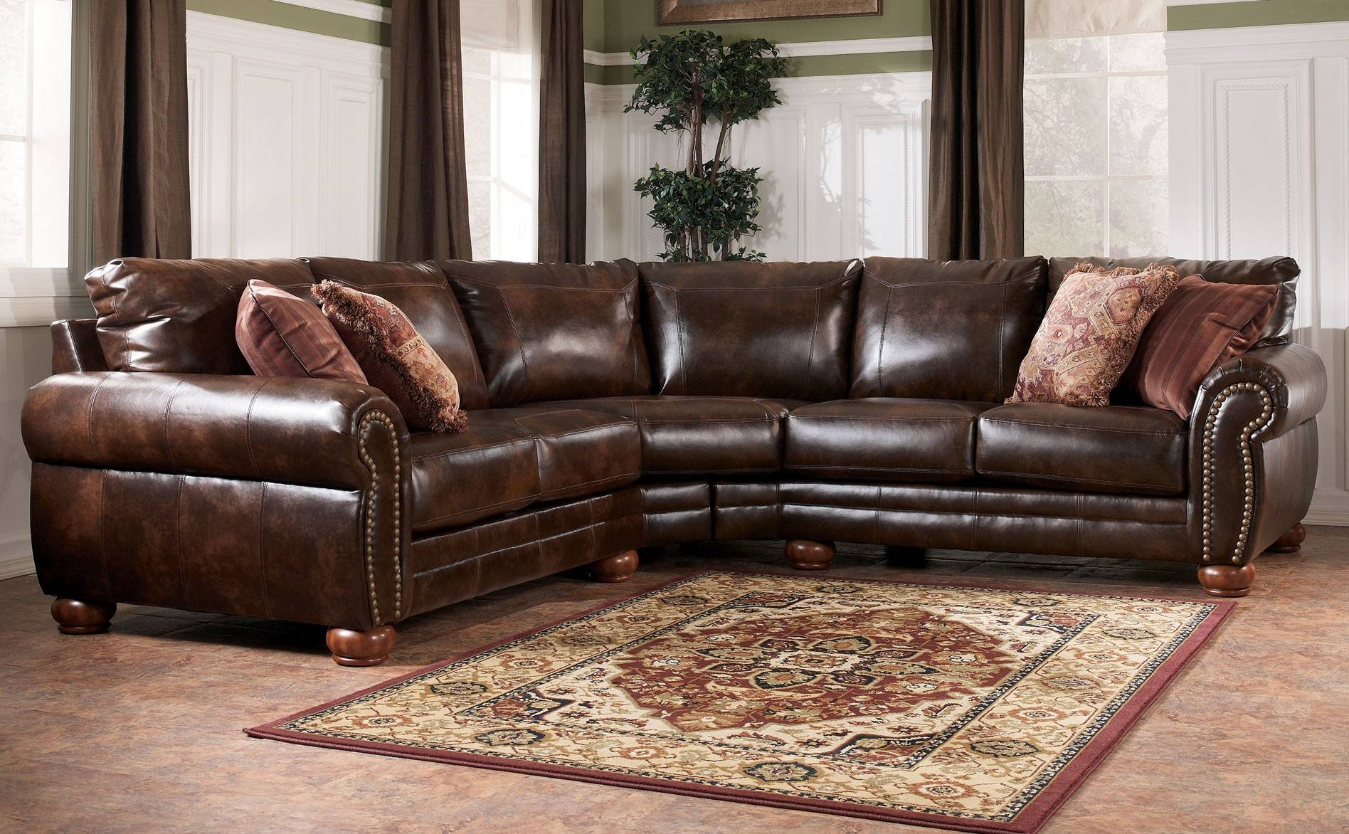 Decorating: Interesting Ashley Furniture Sectional For Modern with Ashley Faux Leather Sectional Sofas (Image 6 of 15)