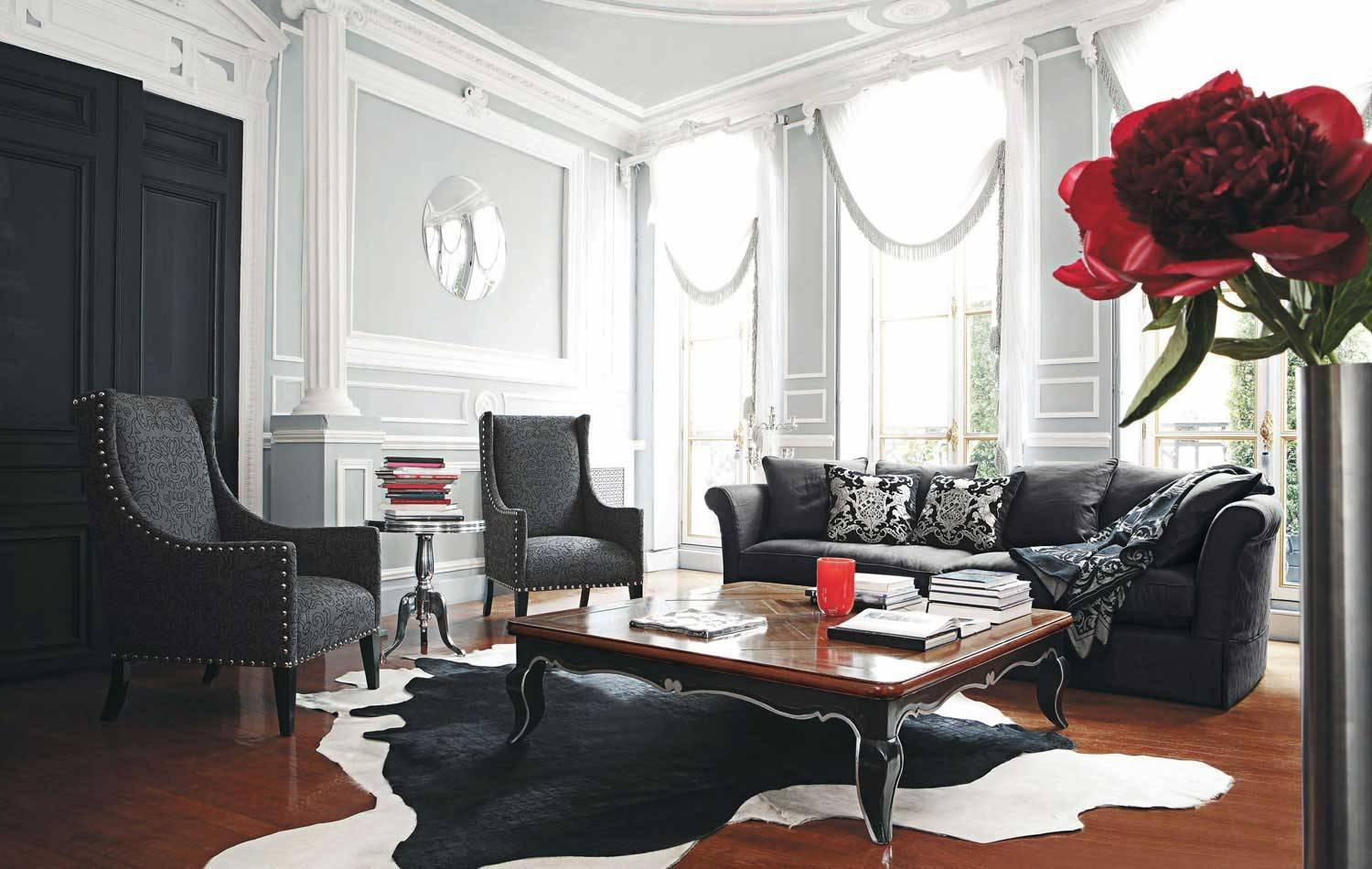 Decoration Of Your Living Room With Black Sofa – Interior in Black Sofas For Living Room (Image 2 of 15)