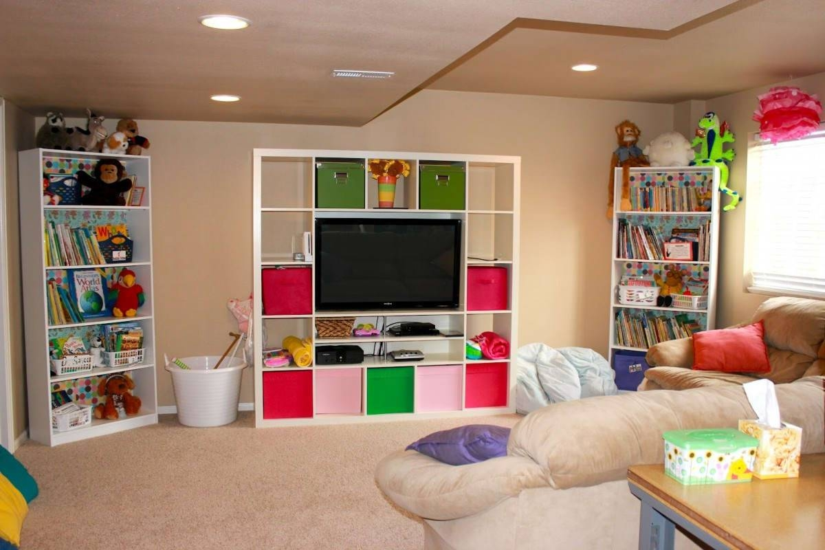 Decorations : Small Kids Playroom Decor With Cream Fluffy Carpet throughout Playroom Tv Stands (Image 8 of 15)