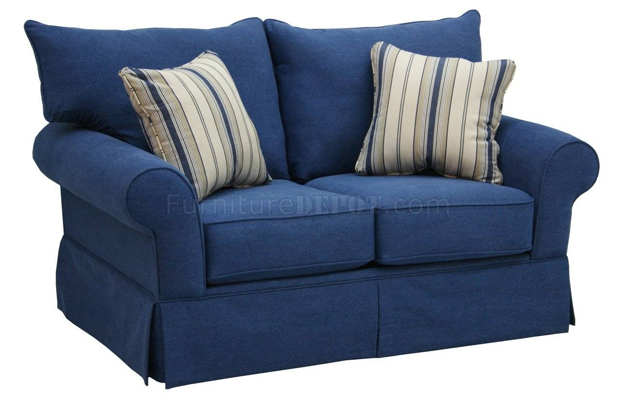 Featured Photo of Blue Denim Sofas