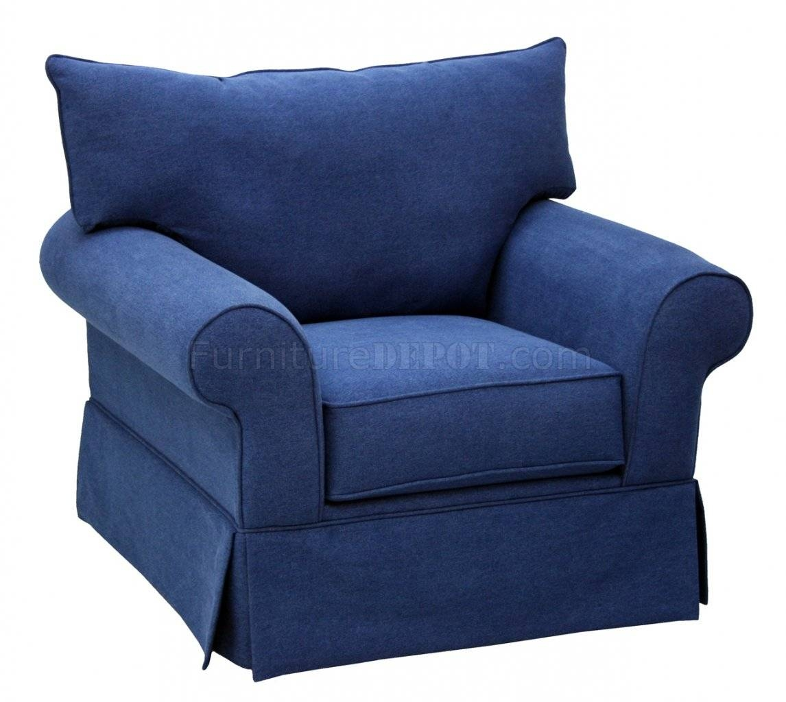 Denim Fabric Modern Sofa & Loveseat Set W/options pertaining to Blue Denim Sofas (Image 5 of 15)
