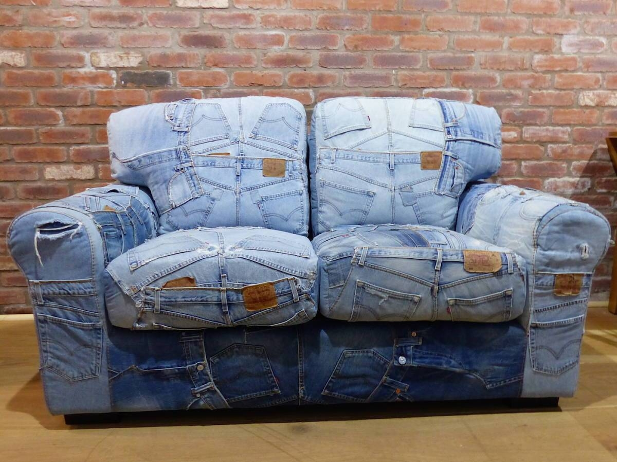 Denim Sofa – Helpformycredit in Denim Sofas and Loveseats (Image 7 of 15)