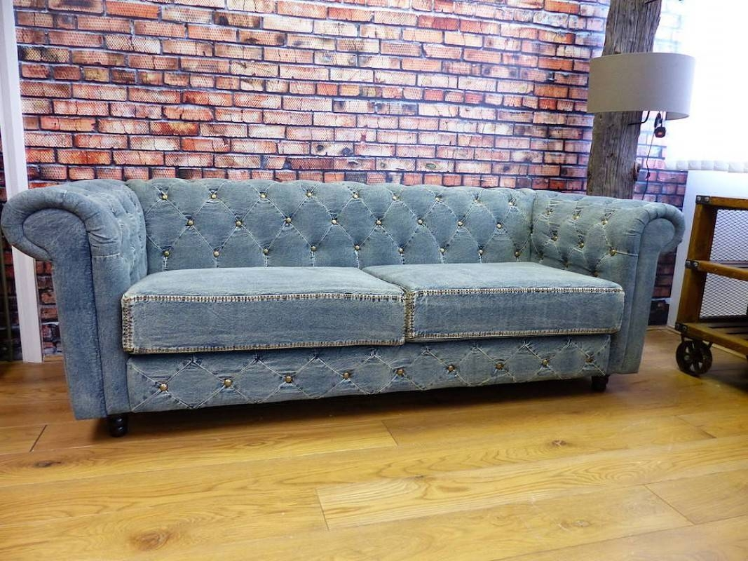 Denim Sofa – Helpformycredit intended for Blue Jean Sofas (Image 8 of 15)