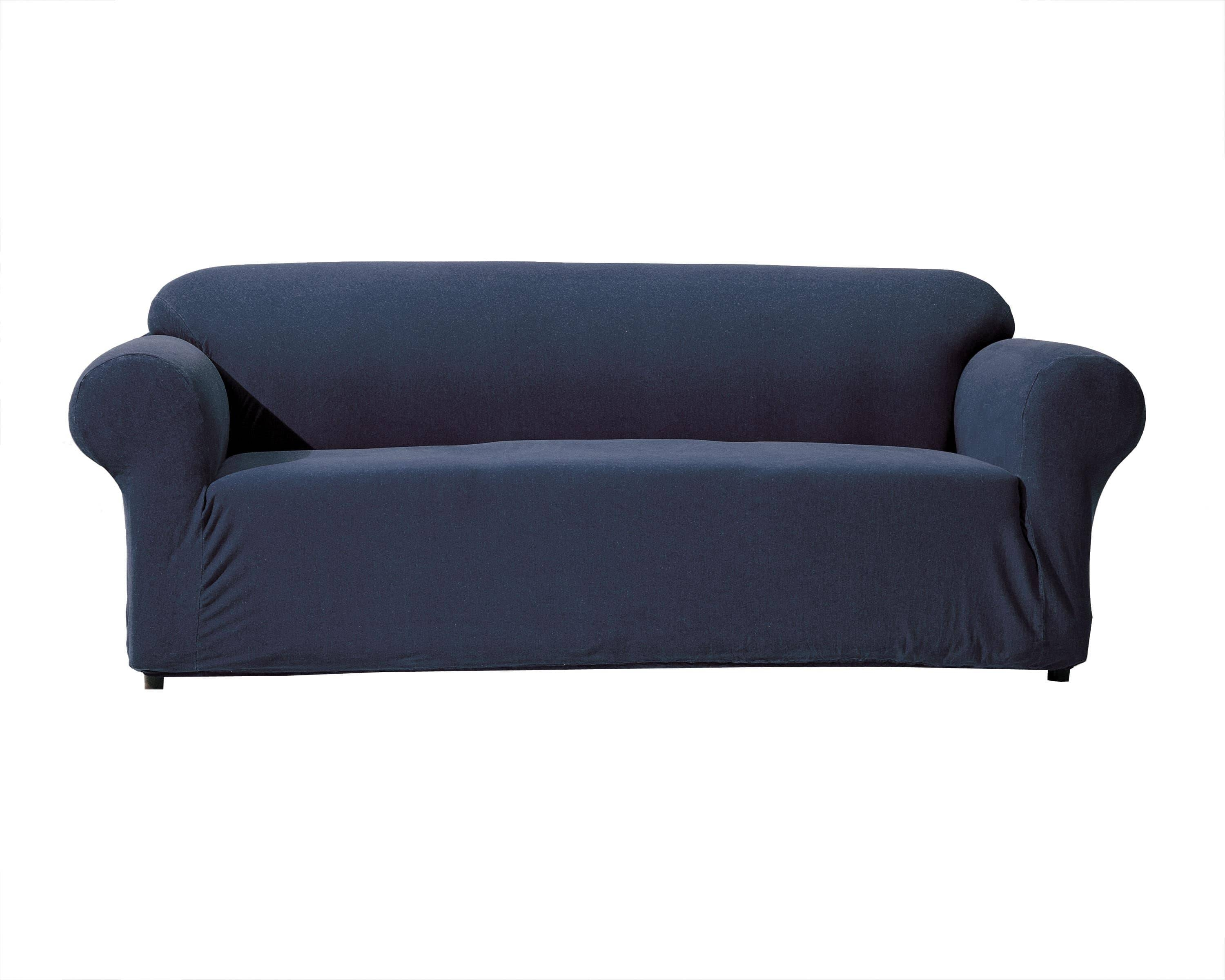 Denim Stretch Sofa Slipcover - Free Shipping Today - Overstock with Blue Denim Sofas (Image 9 of 15)