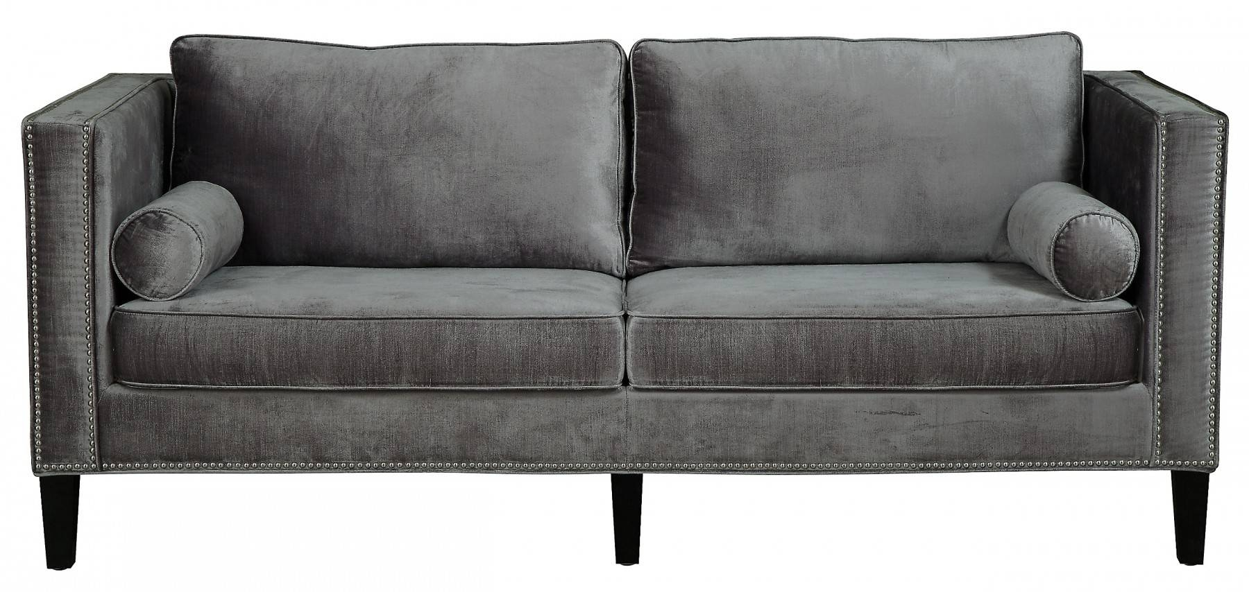 Design Ideas For Grey Velvet Sofa #18886 in Barrister Velvet Sofas (Image 12 of 15)