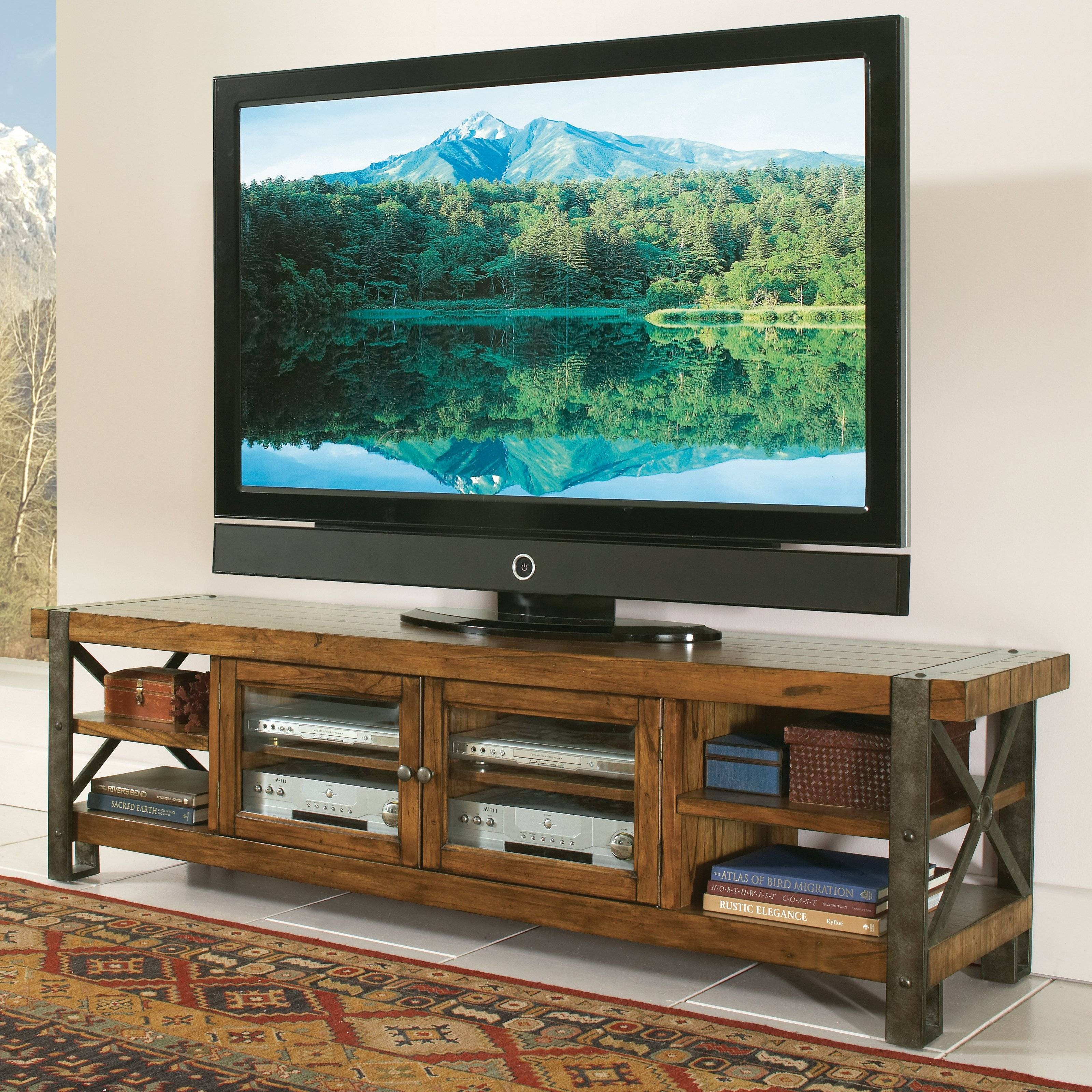 Distressed & Industrial Style Tv Stands | Hayneedle Inside Rustic 60 Inch Tv Stands (View 4 of 15)
