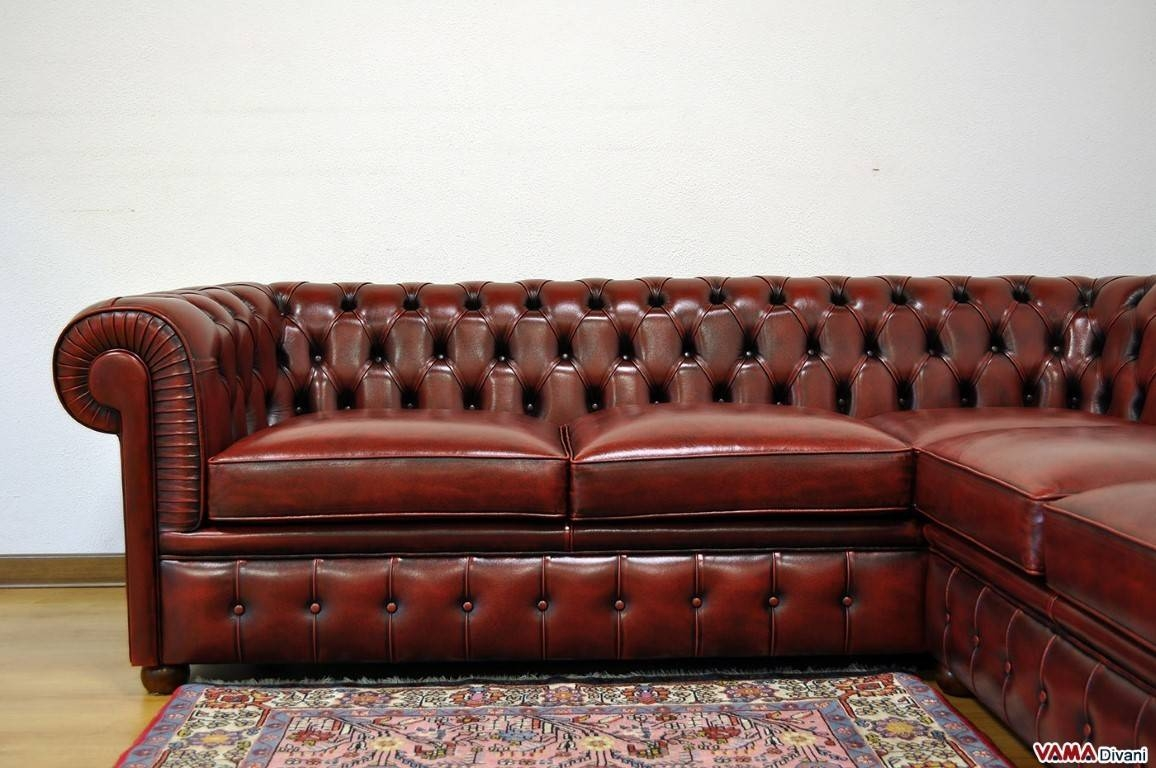Distressed Leather Chesterfield Sofa | Centerfieldbar inside Red Leather Chesterfield Chairs (Image 7 of 15)