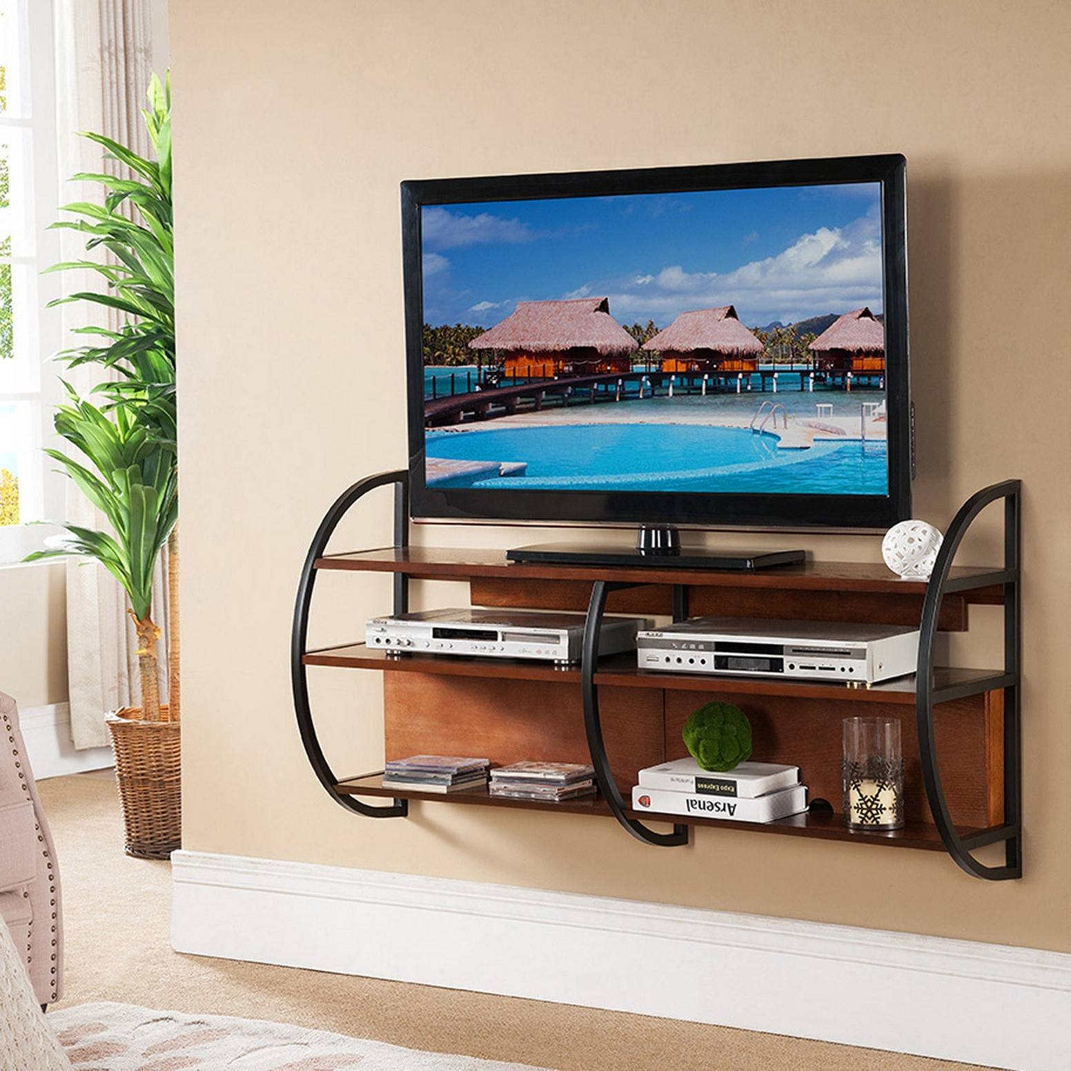 Diy Floating Tv Stand Pictures within Big Tv Cabinets (Image 8 of 15)