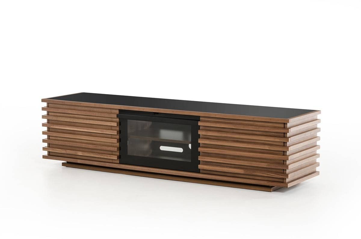 Domus Fiorano Contemporary Walnut Tv Stand within Modern Walnut Tv Stands (Image 2 of 15)