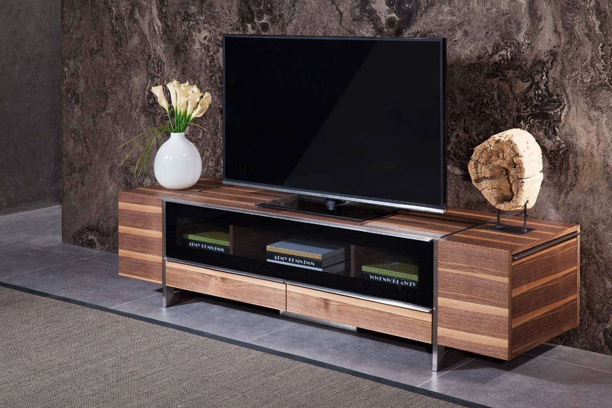 Domus Lorena Modern Walnut Tv Stand in Modern Walnut Tv Stands (Image 3 of 15)