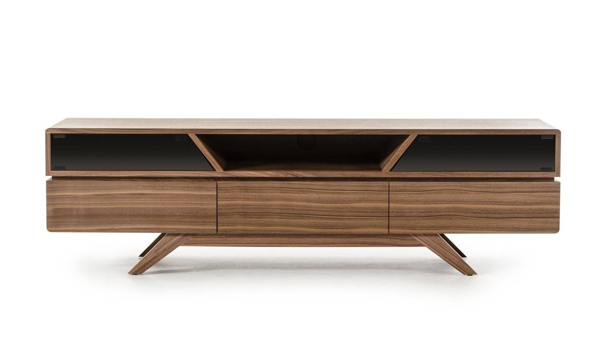 Domus Soria Mid-Century Walnut Tv Stand with Modern Walnut Tv Stands (Image 5 of 15)