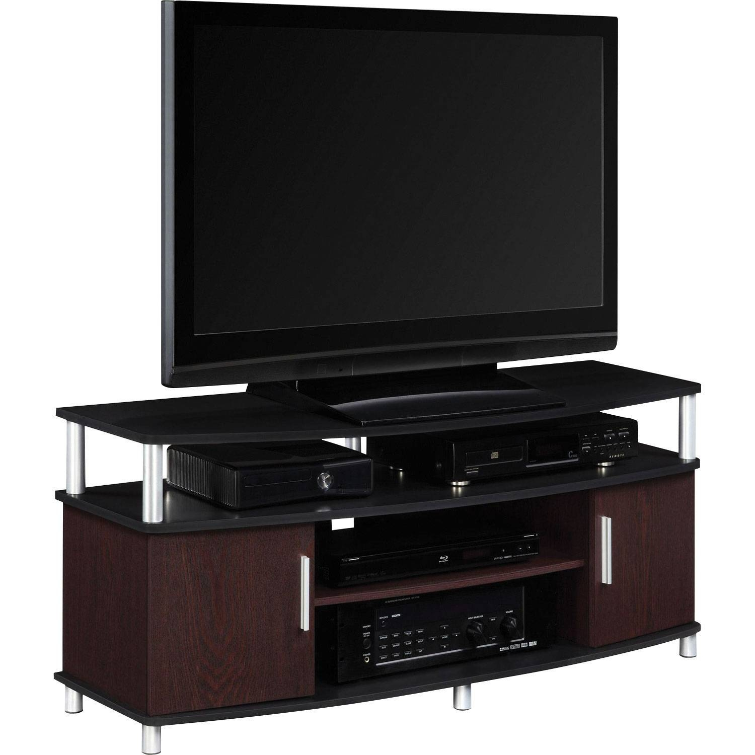 """Dorel Carson 50"""" Tv Stand – Cherry/black : Tv Stands – Best Buy Canada With Tv Stands For 43 Inch Tv (View 14 of 15)"""