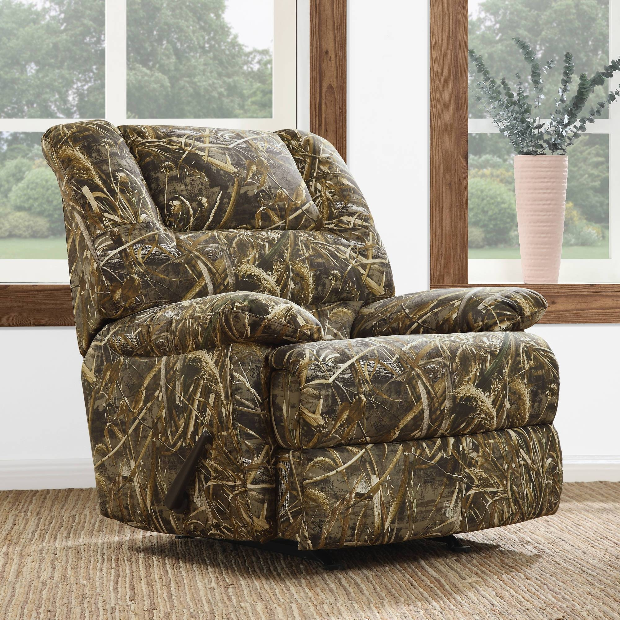 Dorel Living Realtree Camouflage Deluxe Recliner, Camo - Walmart with Camo Reclining Sofas (Image 7 of 15)