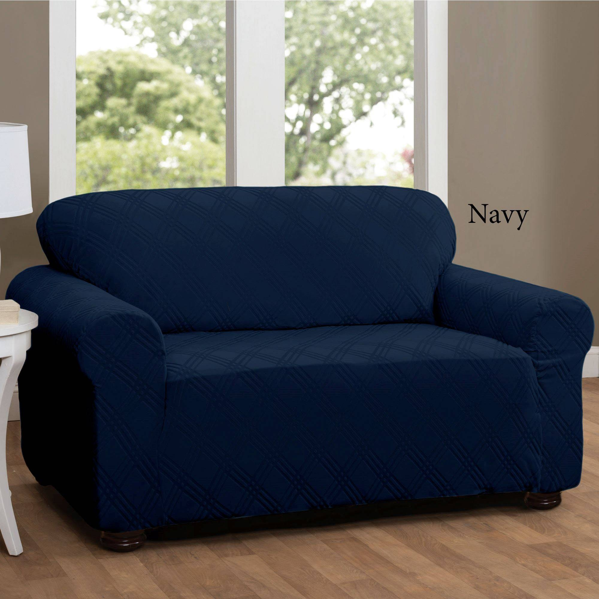15 Best Ideas Of Navy Blue Slipcovers
