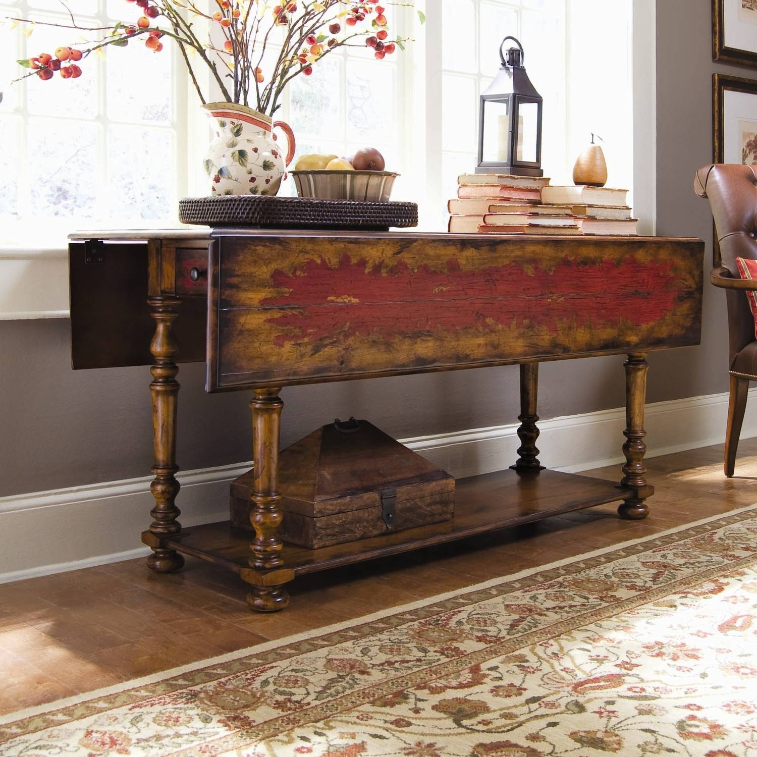Drop Leaf Sofa Table: Large Or Space-Effective Do You Need with Shabby Chic Sofa Tables (Image 6 of 15)