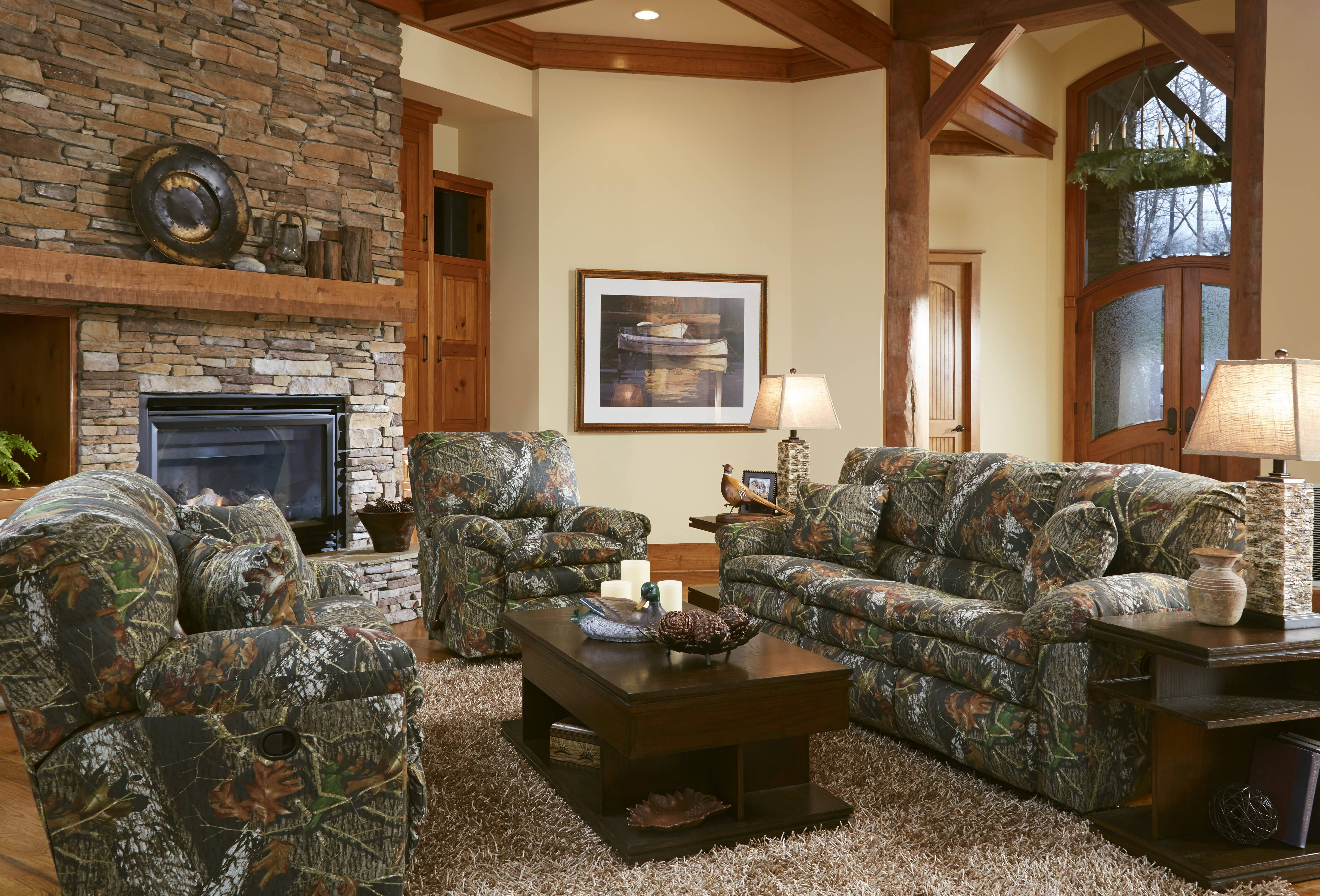Duck Dynasty Camo Furniture Sales | Reclining Loveseat | My Rooms pertaining to Camouflage Sofas (Image 9 of 15)