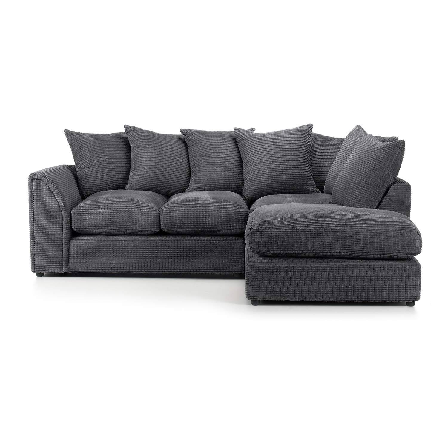 Dylan Jumbo Cord Corner Sofa – Next Day Delivery Dylan Jumbo Cord Throughout Corner Sofas (View 7 of 15)