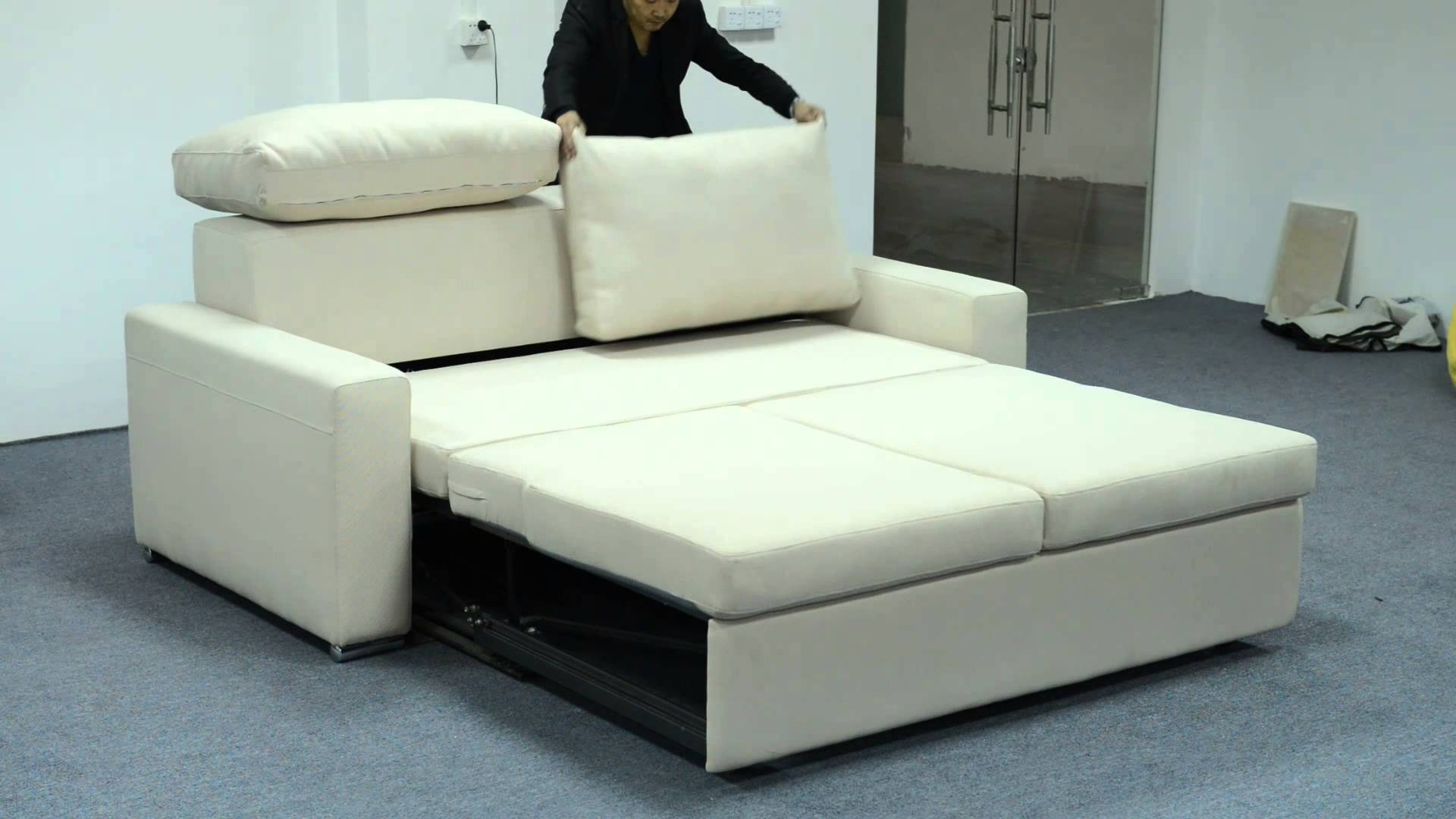 里斯本 Electric Function Sofa Bed   Youtube In Electric Sofa Beds (Photo 2 of 15)