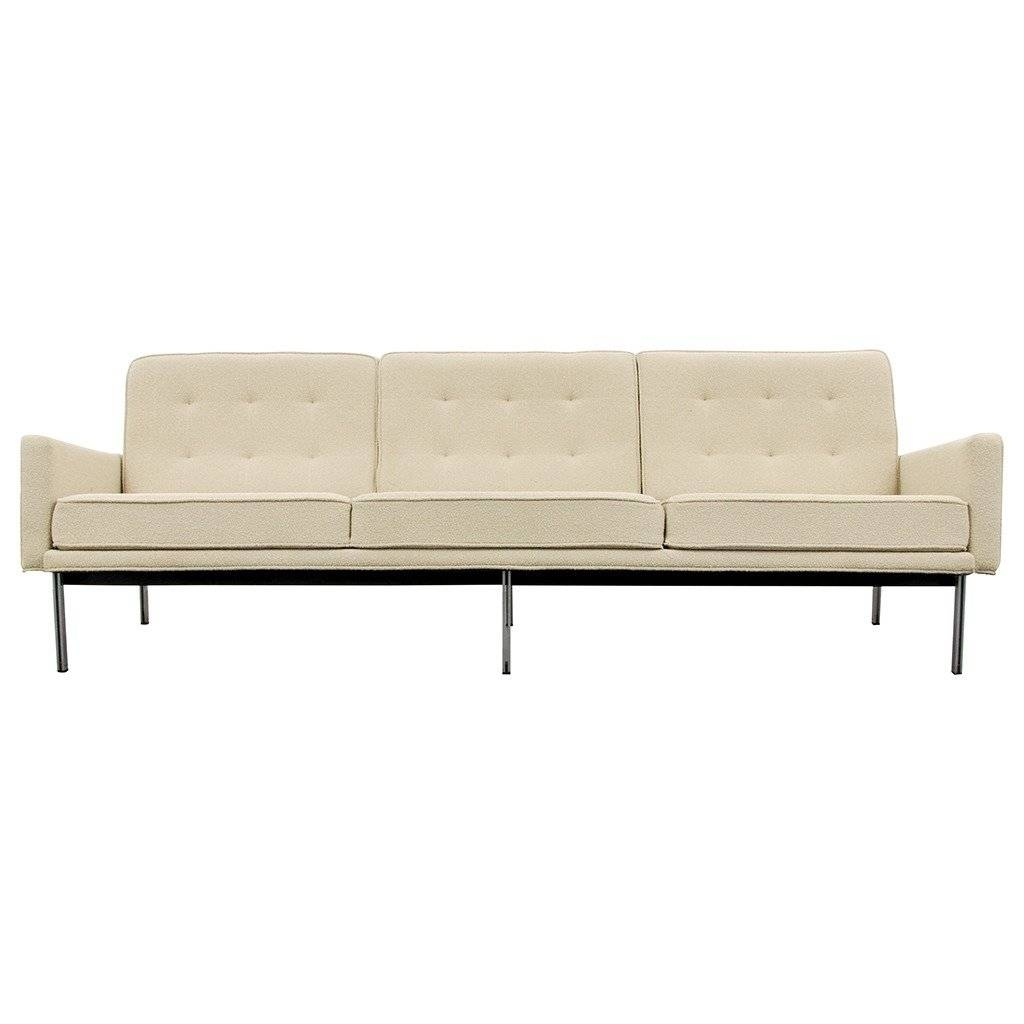 "Early Florence Knoll ""parallel Bar"" Sofa, Circa 1960 At 1Stdibs intended for Florence Knoll Sofas (Image 5 of 15)"