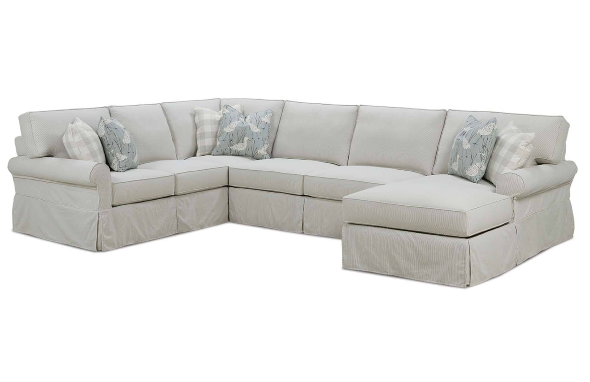 Easton Slipcover Sectionalrowe Furniture intended for Rowe Sectional Sofas (Image 3 of 15)
