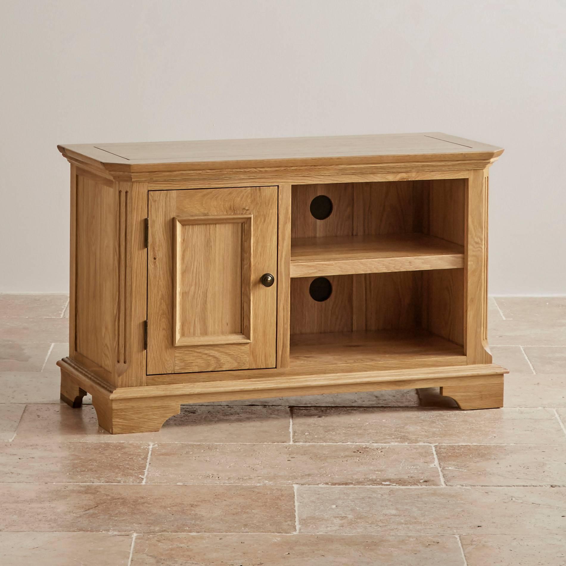 Edinburgh Small Tv Cabinet In Solid Oak | Oak Furniture Land in Small Oak Tv Cabinets (Image 3 of 15)