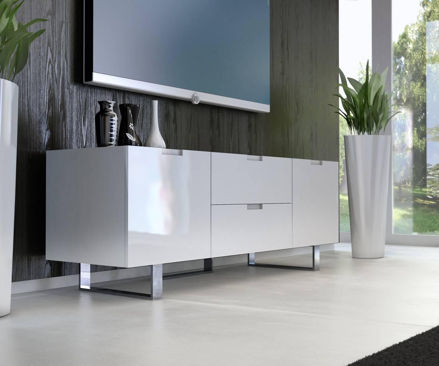 Eldridge Tv Standmodloft Buy From Nova Interiors Contemporary regarding Modern White Lacquer Tv Stands (Image 5 of 15)