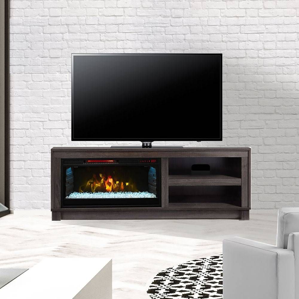 Electric Fireplace Entertainment Center | Tv Stands & Media Consoles inside Sleek Tv Stands (Image 3 of 15)