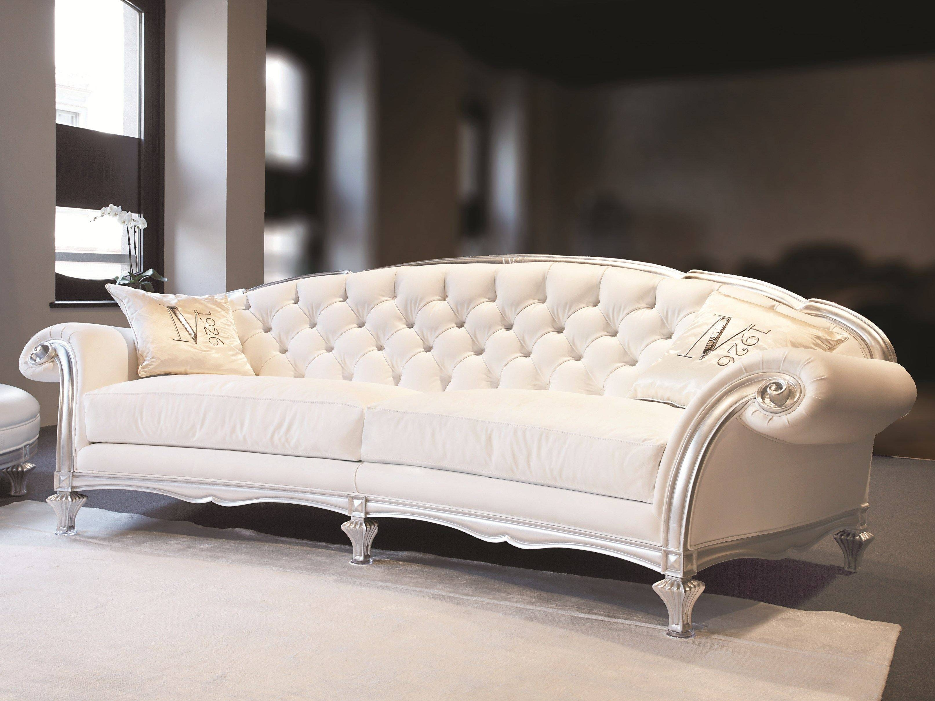 Elegant Antique Tufted Sofa As White Elegant Chairs With Silver throughout Silver Tufted Sofas (Image 4 of 15)