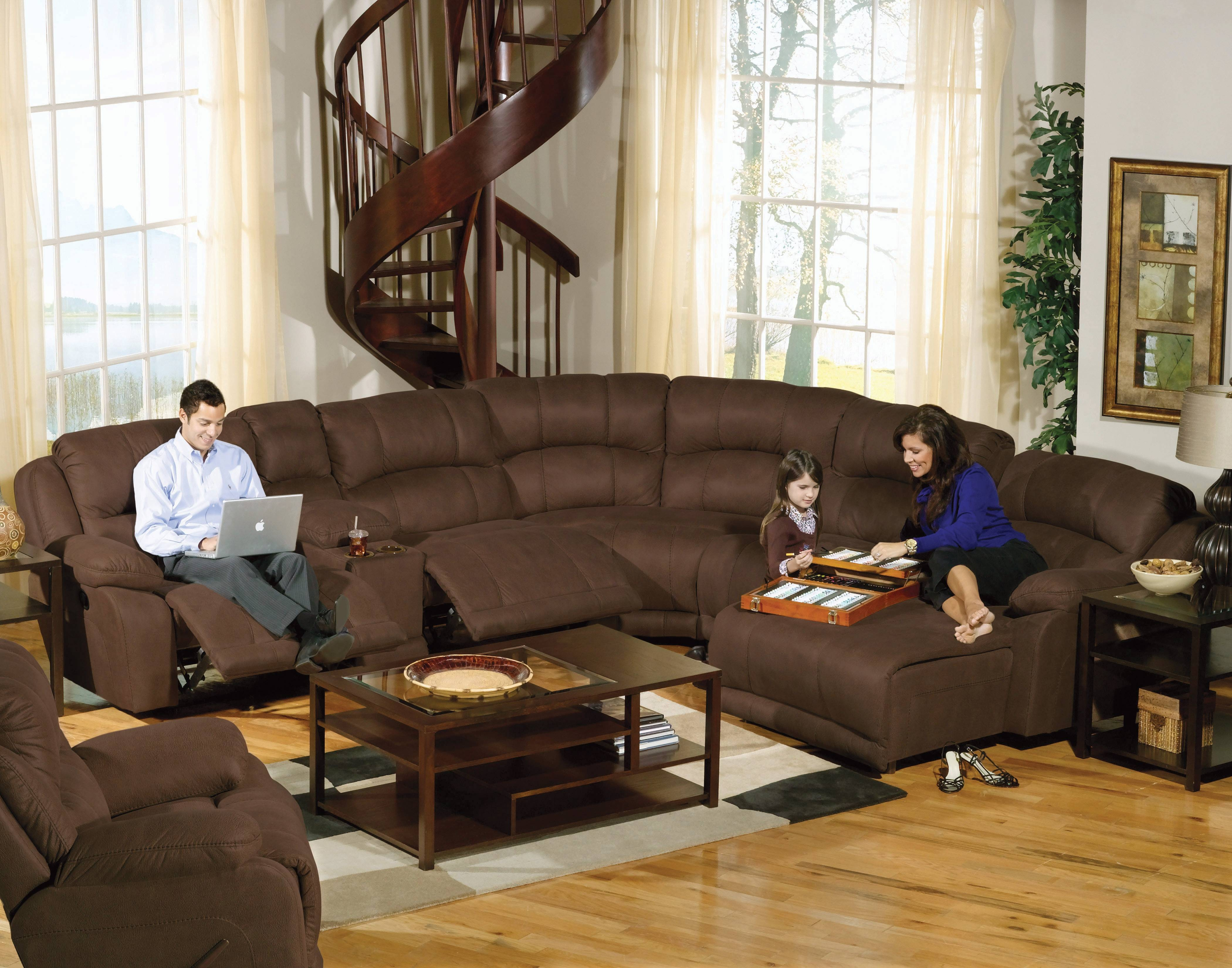 Elegant Large Sectional Sofas With Recliners 94 In Curved pertaining to Curved Sectional Sofas With Recliner (Image 4 of 15)