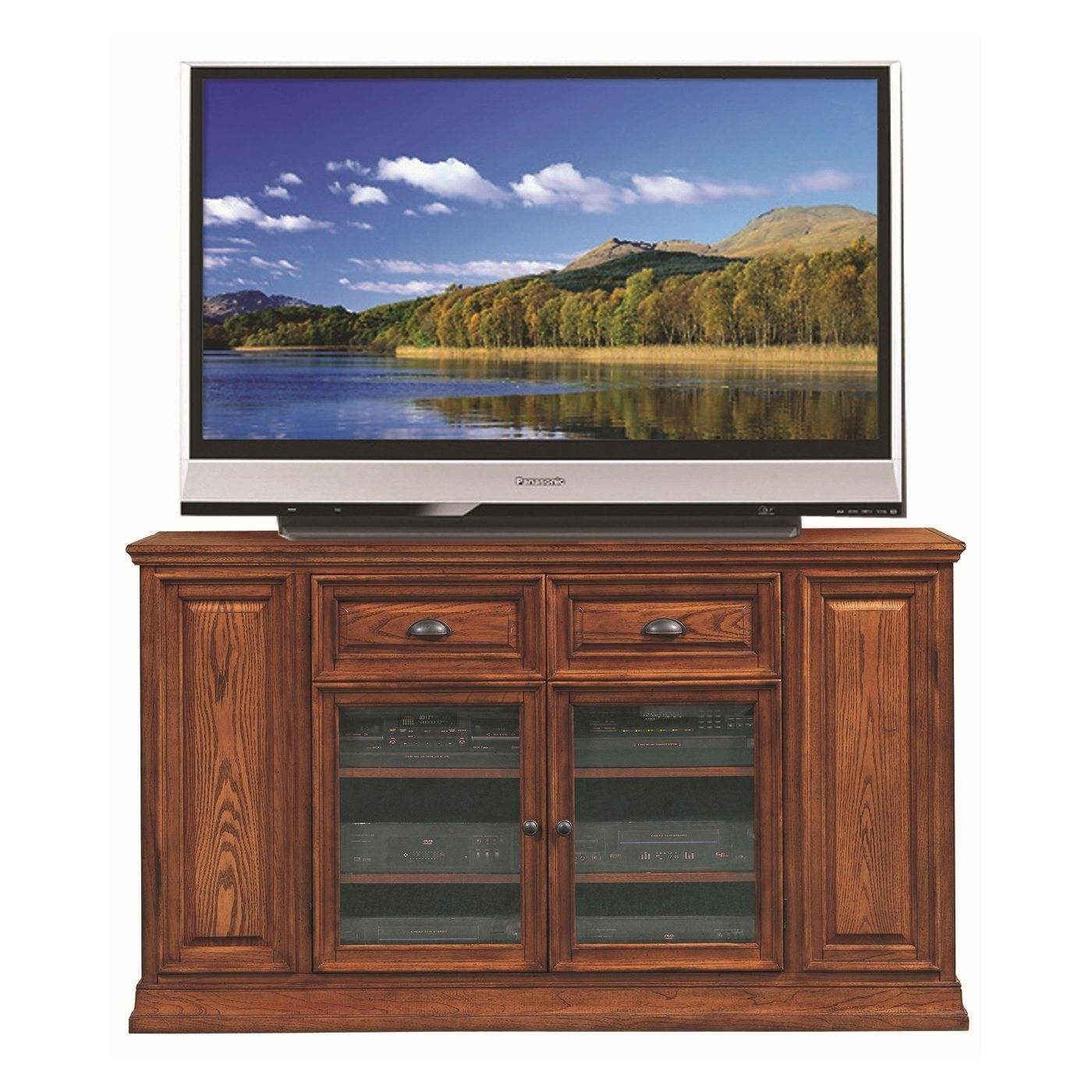 Elegant Matte Varnished Maple Wood Tall Tv Stand For Bedroom With with regard to Maple Wood Tv Stands (Image 3 of 15)