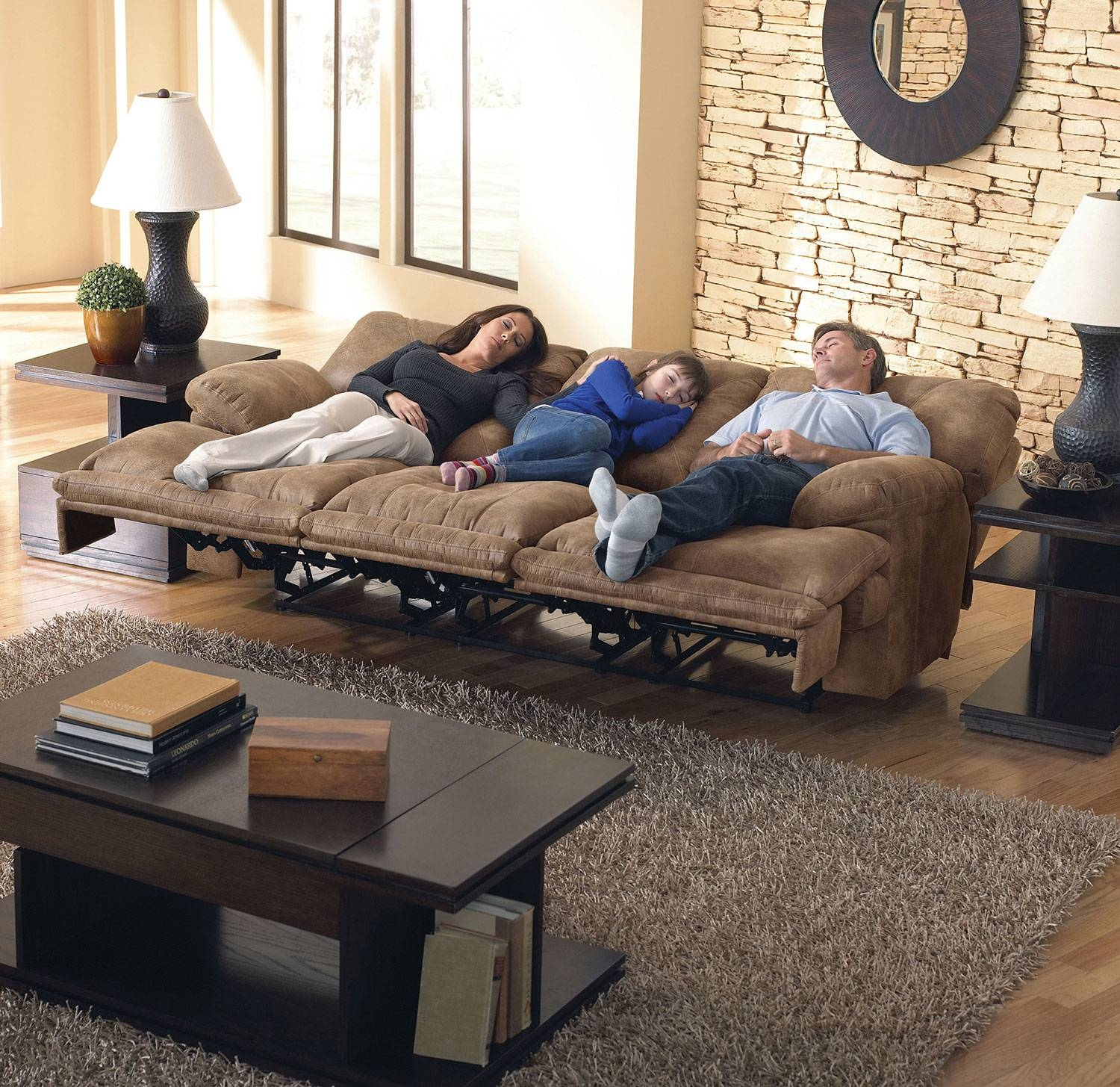 Elgin Reclining Sofa - Brandy | Levin Furniture within Catnapper Reclining Sofas (Image 10 of 15)